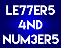 """""""LETTERS AND/OR NUMBERS"""" is September's Photo Challenge"""