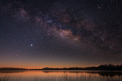 Milky Way Over a Lake