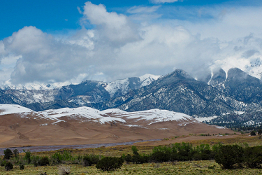 Spring Snow at the Great Sand Dunes