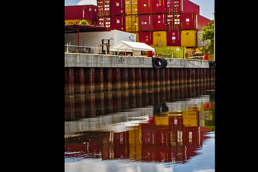Shipping Containers on the Miami River