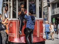Riding the Istanbul Trolley